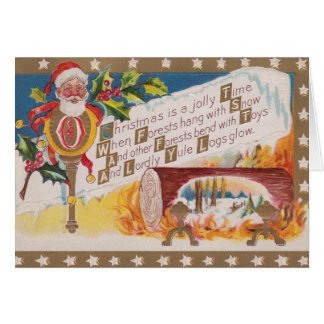 Victorian Christmas Greeting Card カード