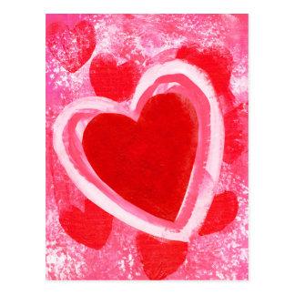 VictoriaShaylee著バレンタインのハート ポストカード