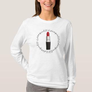 Videogirl131口紅の長袖のワイシャツ Tシャツ