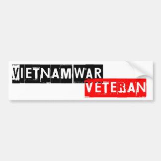 vietnamwar退役軍人 バンパーステッカー