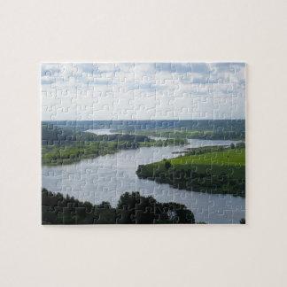 Vilkija、リスアニアのNemunasの川 --- ジグソーパズル