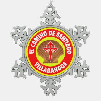 Villadangos スノーフレークピューターオーナメント