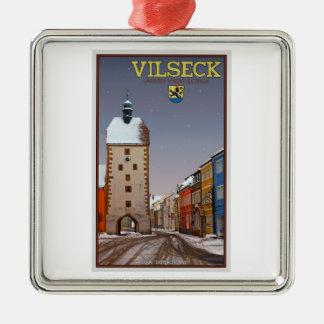 Vilseck -タワーおよびゲート-冬 メタルオーナメント