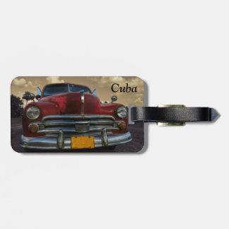 Vinales、キューバのクラシックなアメリカ車 ラゲッジタグ