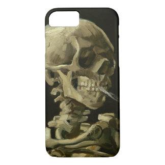 Vinc著非常に熱いタバコが付いている骨組のスカル iPhone 8/7ケース