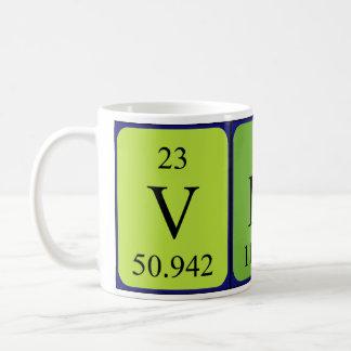 Vinceの周期表の名前のマグ コーヒーマグカップ