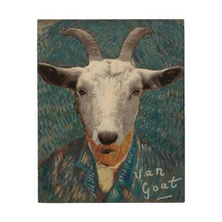 Vincent Van Goat Parody Art Painting ウッドウォールアート