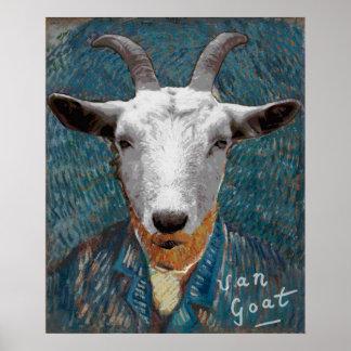 Vincent Van Goat Self-Portrait Painting Art ポスター