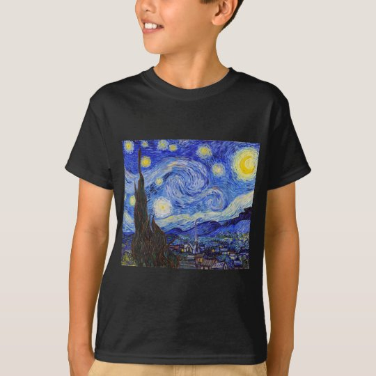 "Vincent Willem van Gogh , "" Starry Night "" Tシャツ"