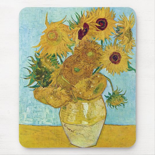 Vincent Willem van Gogh, sunflower マウスパッド