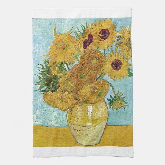"Vincent Willem van Gogh , "" Sunflowers "" キッチンタオル"