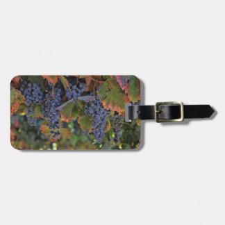 Vineyard Wine Grapes Luggage Tag Customizable ラゲッジタグ