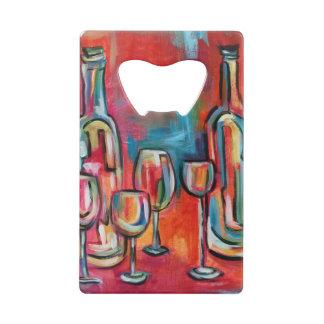 Vinoのワイン・ボトルおよびガラス クレジットカード栓抜き