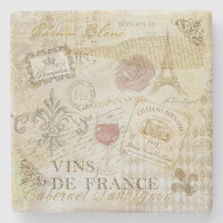 Vins deフランスIIのコースター ストーンコースター
