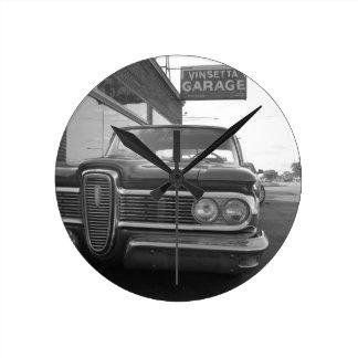 Vinsettaのガレージ ラウンド壁時計