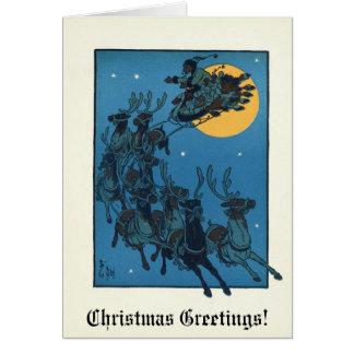 Vintageの(1902年の)クリスマスカード カード