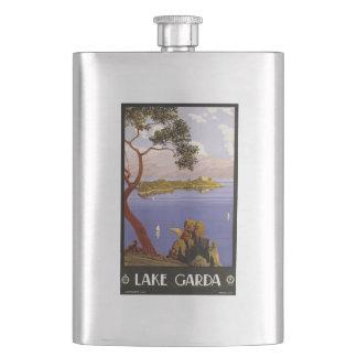 vintage湖のGardaイタリアのフラスコ フラスク
