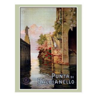 vintage 1920年の湖のComo Lennoイタリアンな旅行広告 ポストカード