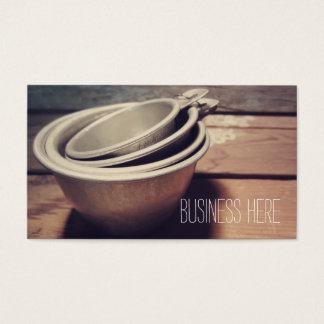 Vintage Aluminum Measuring Cups Retro Inspired 名刺