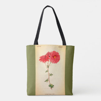 Vintage-Art-Floral_Botanical_Totes及び財布バッグM L トートバッグ