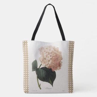 Vintage_Botanical-Art_Checks_Floral-Totes-Bags トートバッグ