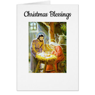 Vintage Christmas Blessings カード
