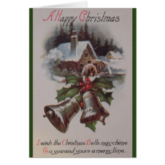 Vintage Christmas Greeting Card カード