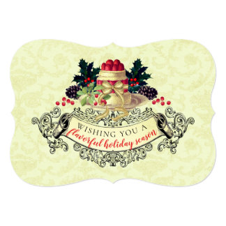 Vintage Christmas pudding from the kitchen of card カード