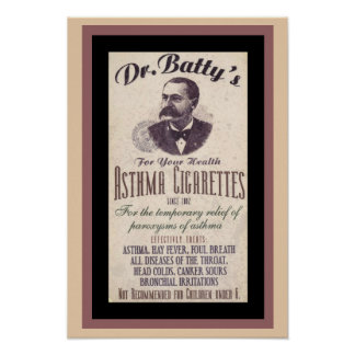Vintage Dr. Batty's Cigarette Ad Poster ポスター