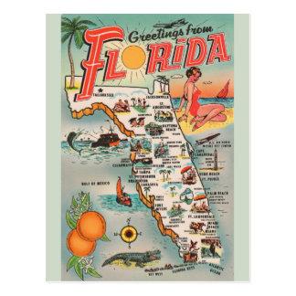 Vintage Florida Map Post Card ポストカード