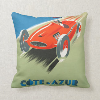 Vintage Formula One Racing Poster Art Throw Pillow クッション
