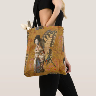 Vintage Geisha All Over Print Tote トートバッグ