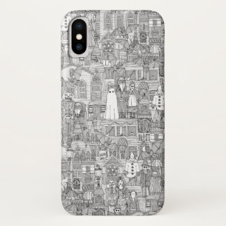 vintage halloween black white iPhone x ケース