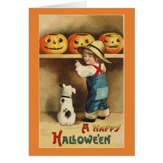 Vintage Halloween Boy カード