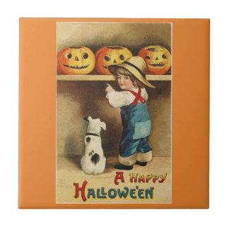 Vintage Halloween Boy タイル