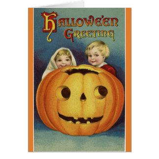 Vintage Halloween Greeting カード