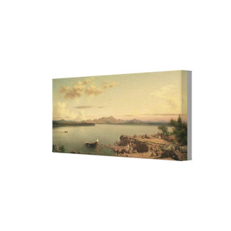 Vintage Lake George by Martin Johnson Heade キャンバスプリント