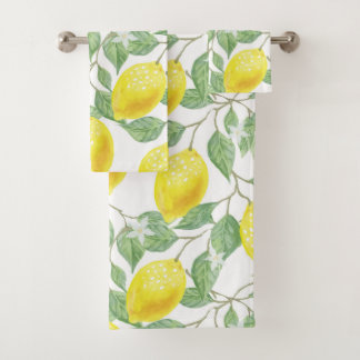Vintage Lemon Vines Towel Set バスタオルセット