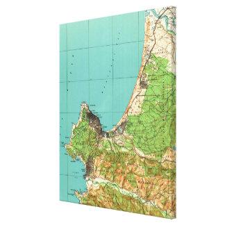 Vintage Map of Monterey California (1941) キャンバスプリント