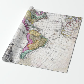 Vintage Map of North and South America 1746 ラッピングペーパー