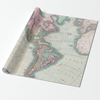 Vintage Map of North and South America 1806 ラッピングペーパー