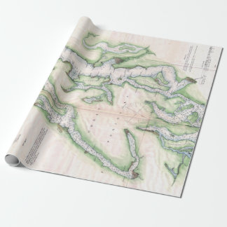 Vintage Map of Seattle and Puget Sound ラッピングペーパー