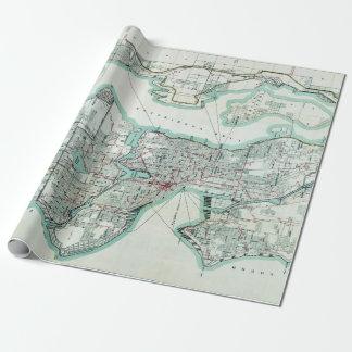 Vintage Map of Seattle Washington ラッピングペーパー