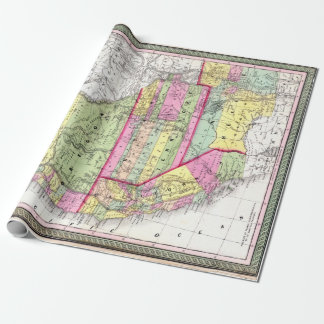 Vintage Map of the American West California Oregon ラッピングペーパー
