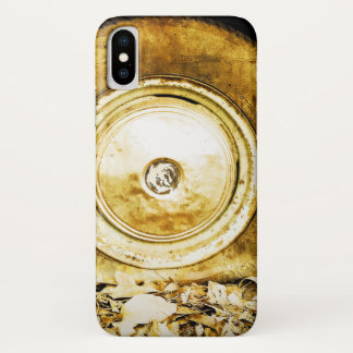 Vintage Old Wheel Of Classic Car iPhone X ケース