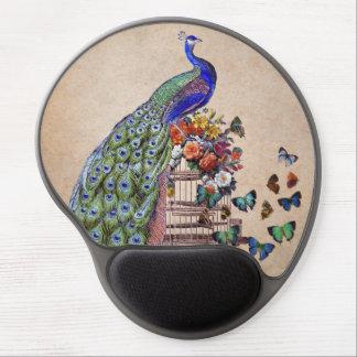 Vintage Peacock on cage ジェルマウスパッド