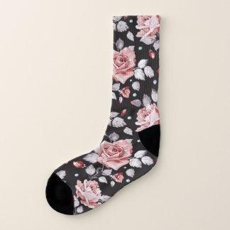Vintage Pink Floral Pattern All-Over-Print Socks ソックス