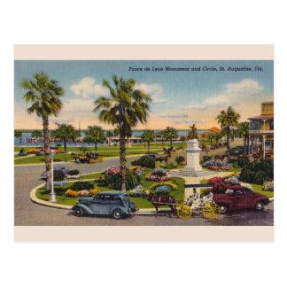 Vintage Ponce de Leon Monument Florida Postcard ポストカード