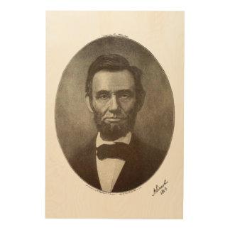 Vintage Portrait US Abeリンカーンのアメリカの大統領 ウッドウォールアート
