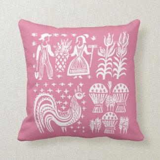 Vintage Pyrex Pattern - Butterprint Pink クッション